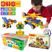 ETI Toys | STEM Learning | Original 101 Piece Educational Construction Engineering Building Blocks Set for 3 4 and 5+ Year Old Boys & Girls | Creative Fun Kit | Best Toy Gift for Kids Ages 3yr – 6yr - B0164WC4RY