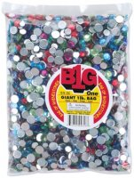 Acrylic Rhinestones Round - Assorted Colors 8 to 11mm 1 lb - B00TCTB4Z0