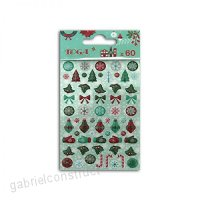 60 epoxy stickers for scrapbooking Merry Christmas - B077GBMFCY